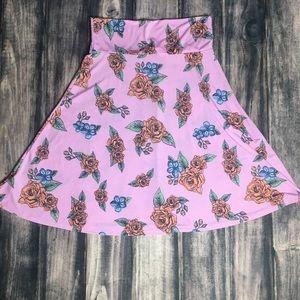 Lularoe Pink Azure Skirt Floral